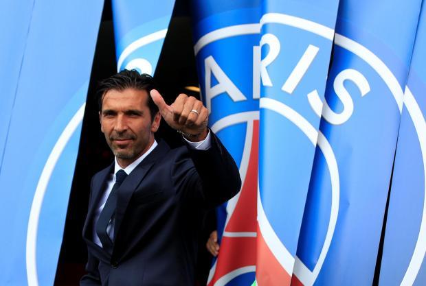 New Paris St Germain goalkeeper Gianluigi Buffon.