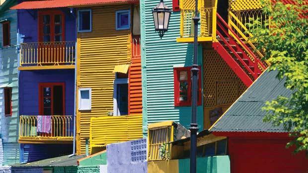 Colourful houses in La Boca.