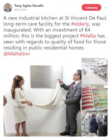 "Anthony Agius Decelis had dubbed the kitchen ""the biggest project Malta has seen""."