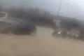 Sandstorm blocks Għadira Bay road