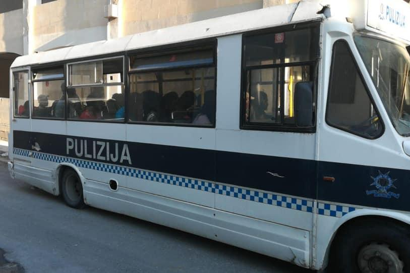 Police detained some of the migrants suspected of living in Malta illegally