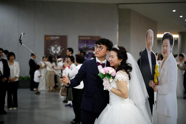 4 000 couples tie the knot in unification church ceremony