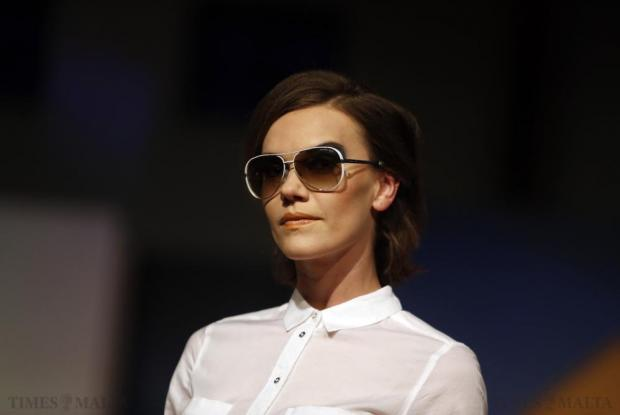 A model wears sunglasses from Optika during the Pink Fashion Show, a Times of Malta event, at Savio College in Dingli on May 29. Photo: Darrin Zammit Lupi