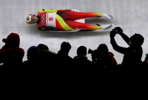 Natalie Geisenberger of Germany competes.