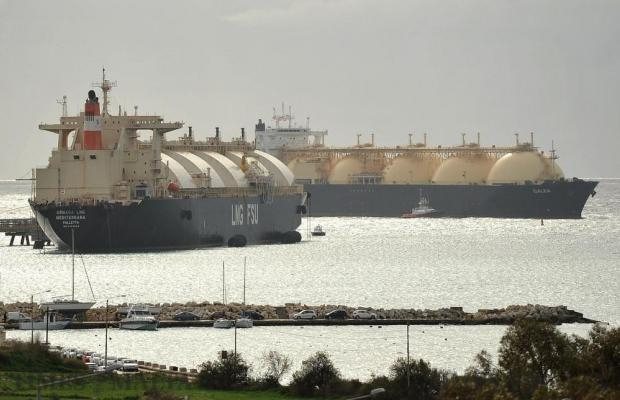 LNG tanker MV Galea enters the bay of Marsaxlokk to fuel the floating storage tanker Armada Mediterrana for the first time on January 11. Photo: Chris Sant Fournier