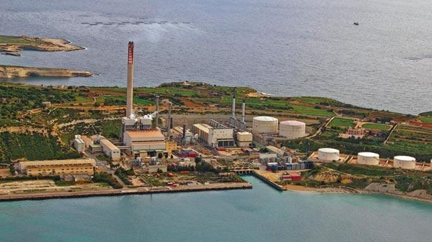 The Delimara power station as it currently is.