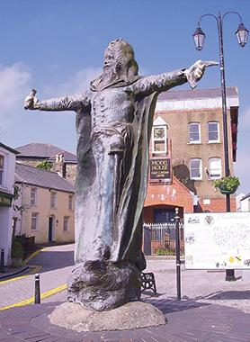 Statue of Dr Price in Llantrisant, Wales.
