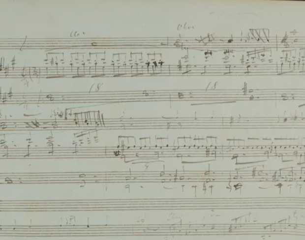 First page of Liszt's opera Sardanapalo, GSA 60 / N4. Photo © Klassik Stiftung Weimar, Author provided.