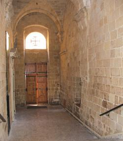 The end of the corridor where the children were trapped against the door leading to St Ursula Street, Valletta.