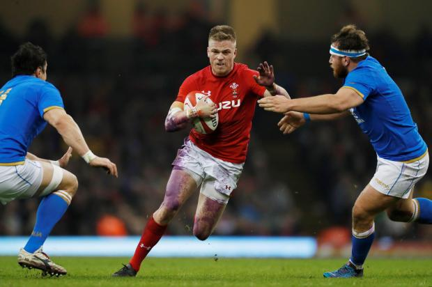Wales' Gareth Anscombe in action.