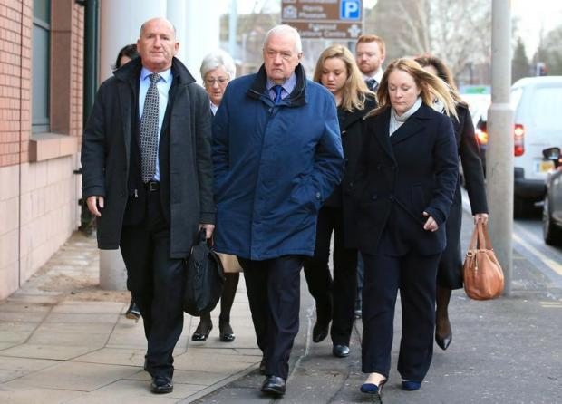 Former Chief Superintendent of South Yorkshire Police David Duckenfield arrives at Preston Crown Court.