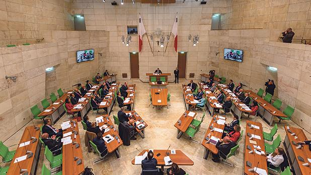 Some of Malta's top business leaders converged at the Parliament building in Valletta on Wednesday.