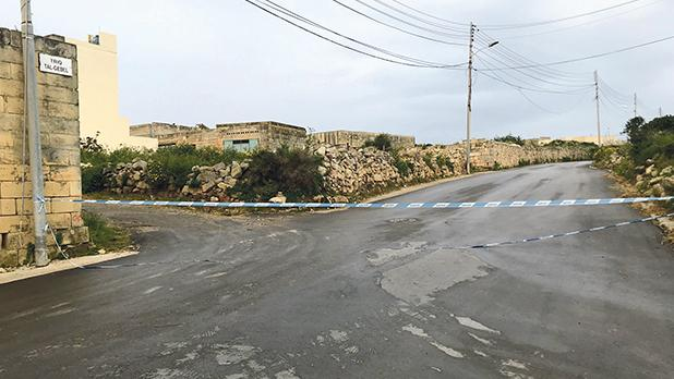 The road where the shooting took place. Photo: Mark Zammit Cordina