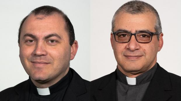 Fr Mifsud, left, and Fr Grech.