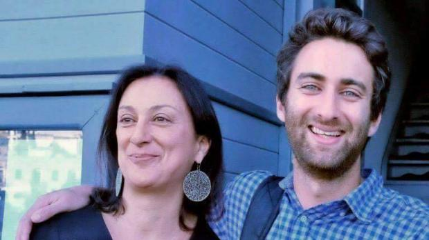 The late Daphne Caruana Galizia and her son Matthew. Photo: Facebook/Matthew Caruana Galizia