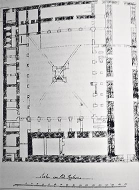 Plan of the ground floor of the Grand Prisons.