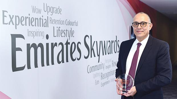 Nejib Ben Khedher, senior vice president Emirates Skywards with Loyalty Award 2019.