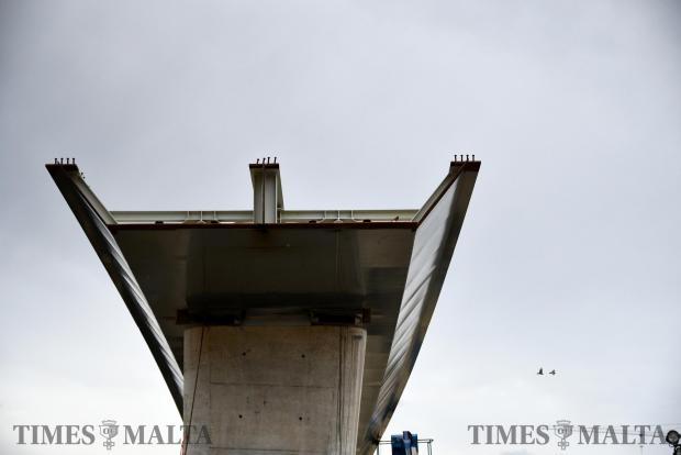 The first flyover arrives at the Kappara junction from Spain on April 20. Photo: Jonathan Borg
