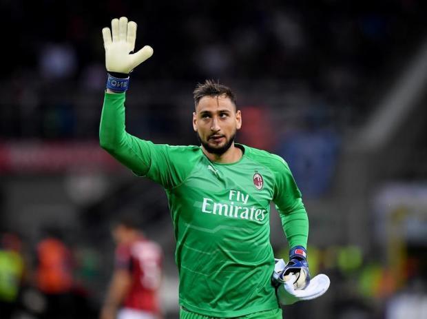Milan goalkeeper Gianluigi Donnarumma.