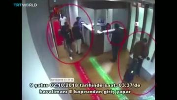 Mr Khashoggi entered the consulate, but never reemerged. Video: Reuters