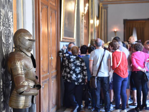 People visit the Grandmaster's Palace in Valletta during an open day held for the public on May 06. Photo: Mark Zammit Cordina