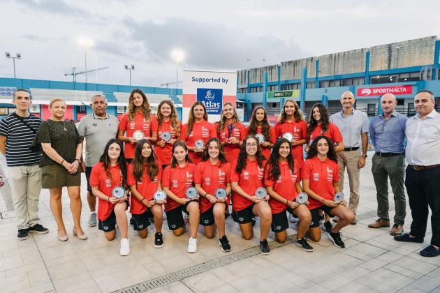 Malta U-17 waterpolo team win Atlas Athlete of the Month Award