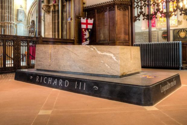 Richard III's tomb in Leicester.