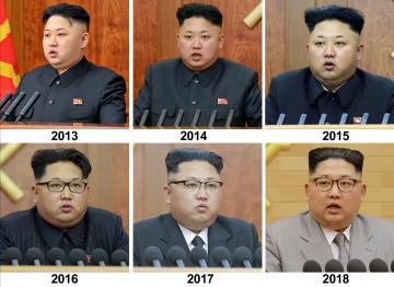 Analysts tried to pick up subtle messages from what the North Korean leader wore over the years. Photo: via Reuters
