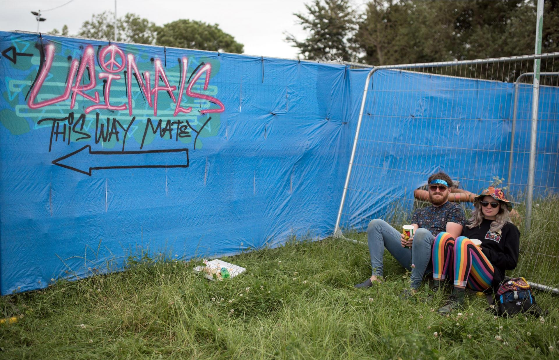 Experts are urging festival attendees to use Glastonbury's official toilets, instead of urinating all over the place.