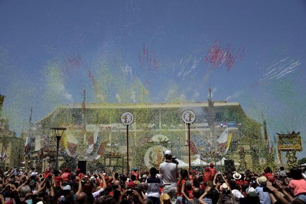A unique confetti display synchronised with music at the feast of St Paul in Rabat on July 3. Photo: Mark Zammit Cordina