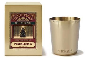 Christmas is in the Air candle with box by Penhaligon.