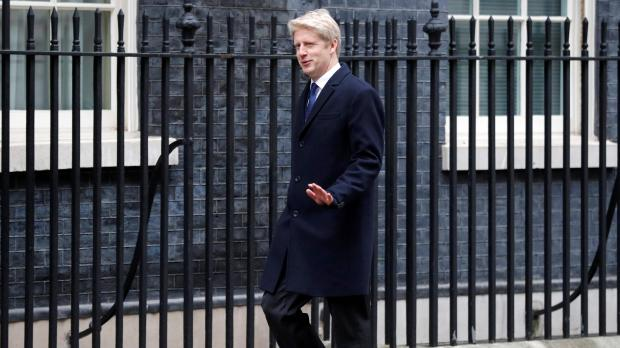 File photo: Jo Johnson arrives at 10 Downing Street, London. Reuters/Peter Nicholls