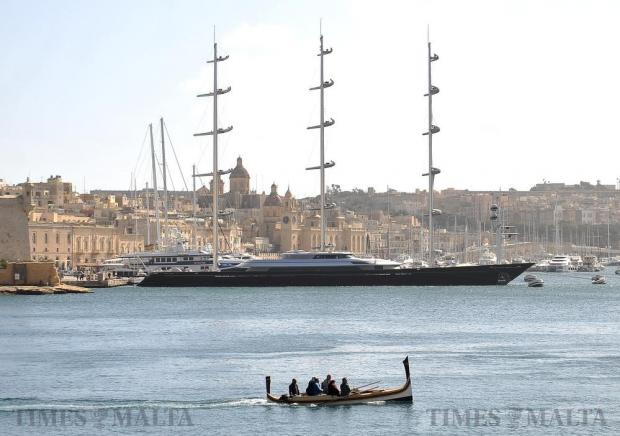 A boat carries tourists in Valletta's Grand Harbour on February 24. Photo: Chris Sant Fournier
