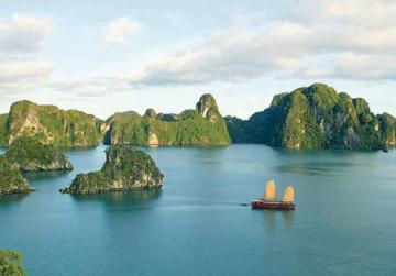 A stunning landscape in Vietnam.
