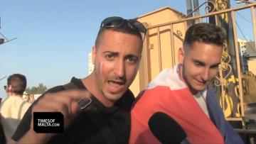 Watch: France fans celebrate team's qualification | Video: Mark Zammit Cordina.