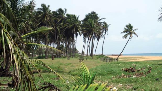 Deserted stretches of Ghana' s west coast.