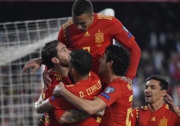 Watch: Ramos helps Spain edge Norway in Euro qualifiers