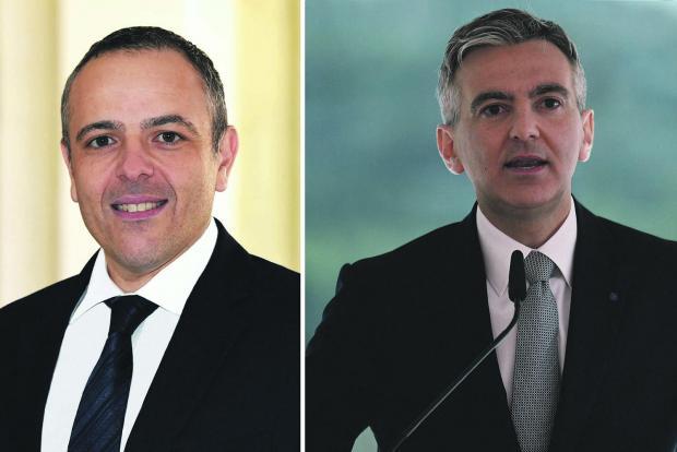 At war... Keith Schembri and Simon Busuttil.