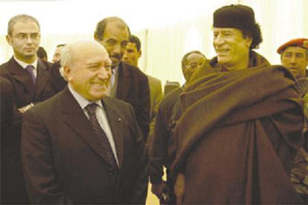 Prof de Marco with Libyan leader Muammar Gaddafi in Sirte in 2004.