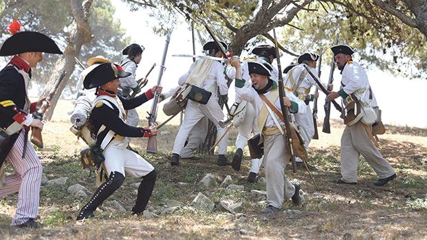 A re-enactment of the French period. Photo|: Mark Zammit Cordina