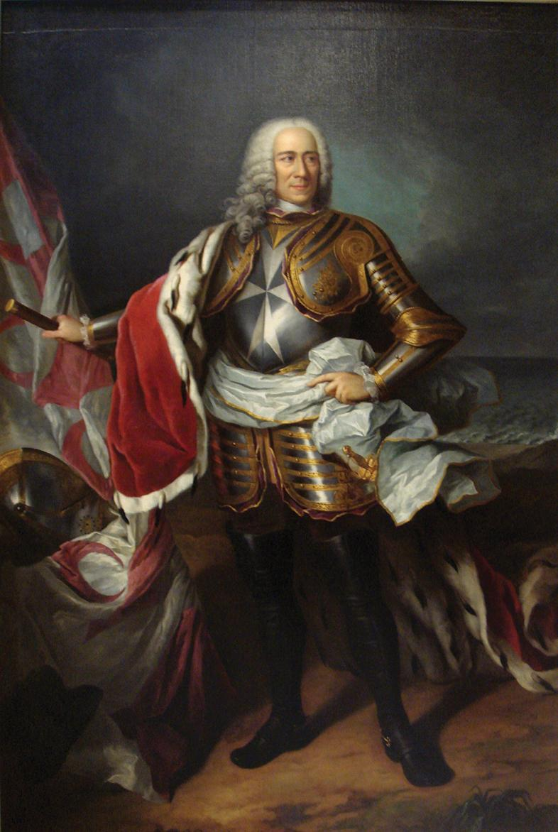 Grand Master Emmanuel Pinto de Fonseca (1741-73), a despotic ruler who loved luxury and wanted to be regarded on a par with other European rulers.