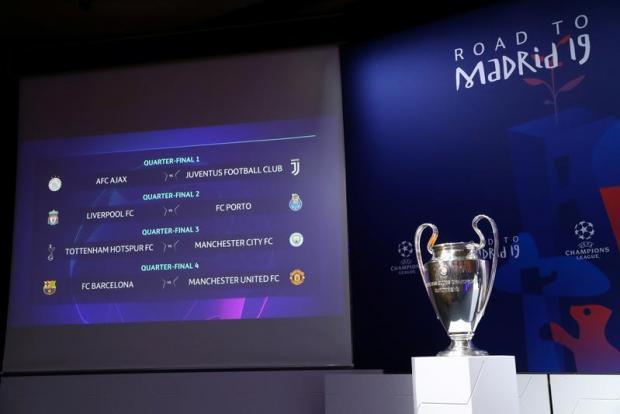 The UEFA Champions League trophy.