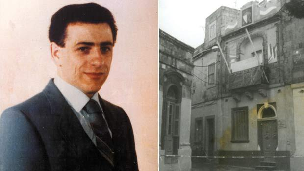 Raymond Caruana was 25 when he was gunned down at the Gudja club (right).