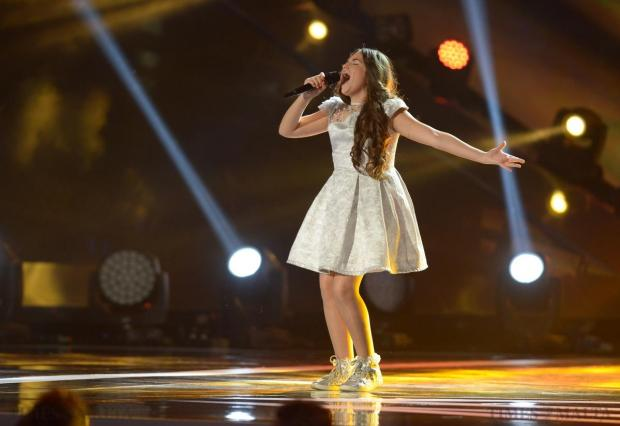 "Malta's Gaia Cauchi takes to the stage at the final of the Junior Eurovision Song contest at Marsa on November 15, Gaia had represented Malta at the Junior Eurovision Song Contest in 2013 and won the contest with her song ""The Start"". Photo: Matthew Mirabelli"