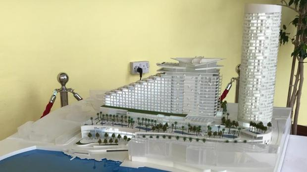 Architects' model of the project. Photo: Mark Zammit Cordina