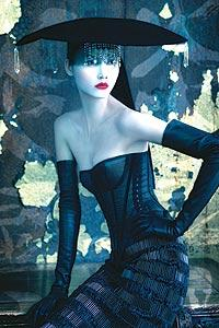 Top Chinese model Mo Wandan for Pirelli.