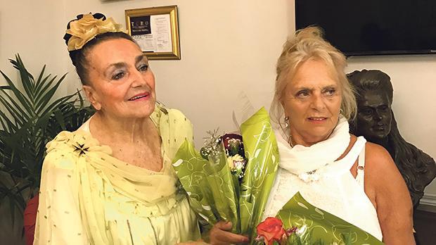 Dame Françoise Tempra (left) and her sister Mina Tempra