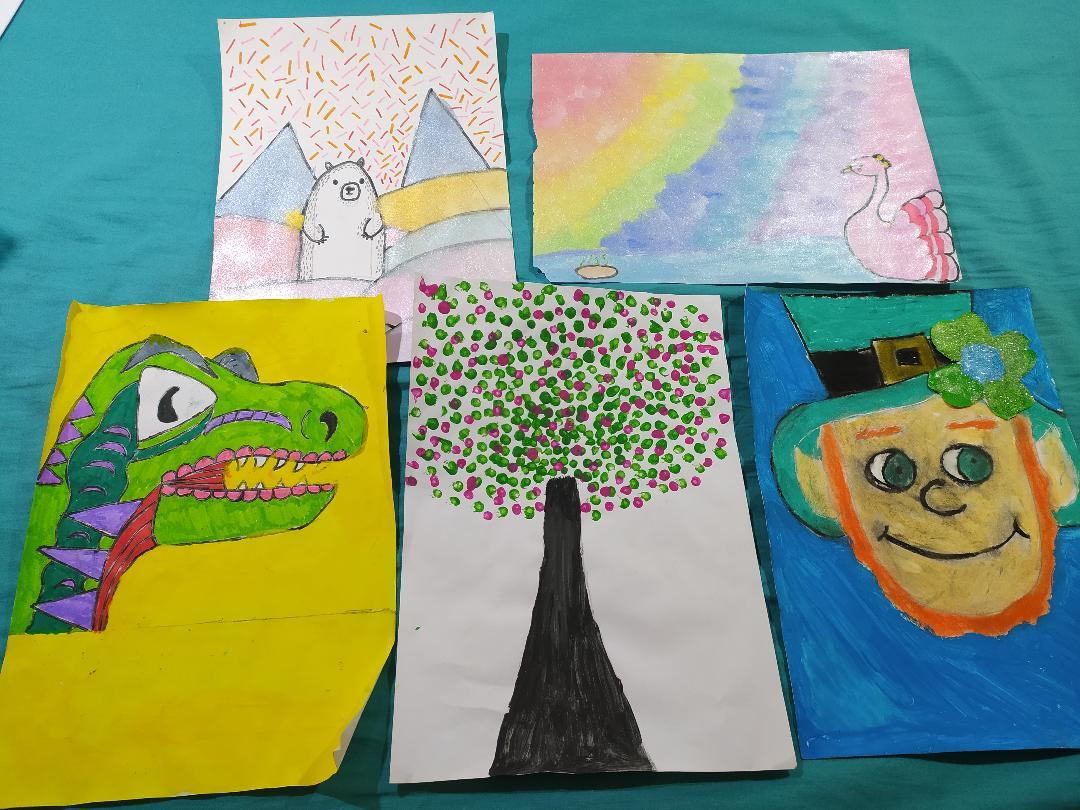 Emma and Faye have been keeping busy, sharing with us a number of drawings.
