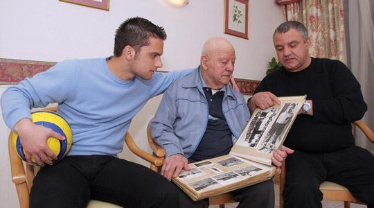Salvinu Schembri (centre) with his son Eric and grandson Andre.