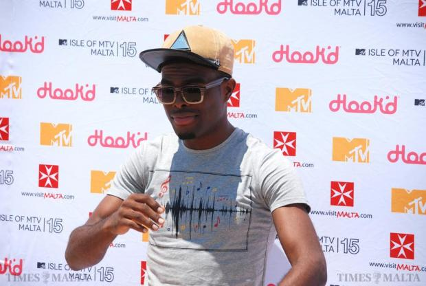 Jamaican singer OMI poses for pictures during a photo call before the Isle of MTV Malta concert in Floriana on July 7. Photo: Mark Zammit Cordina